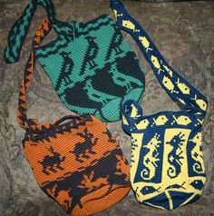 Tapestry Crochet Bags. This site has a lot of very cool tapestry crochet ideas.