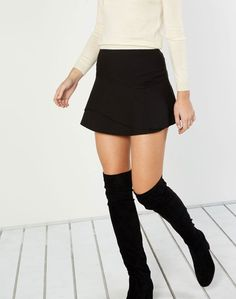 Glassons Short Ruffle Skirt Mid Calf Boots, Knee High Boots, Over The Knee Boots, Ruffle Skirt, Forever 21, Mini Skirts, Womens Fashion, Clothes, Shopping