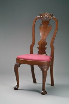 Side chair from Philadelphia, Pennsylvania, about 1740. Museum of Fine Arts, Boston.