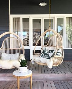 Hanging boho patio chairs backyard in 2019 дом симсов, планы дома мечты, до Outdoor Spaces, Outdoor Living, Outdoor Decor, Outdoor Swings, Outdoor Hanging Chair, Outdoor Kitchens, Outdoor Patios, Garden Swings, Hanging Swing Chair