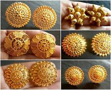 Gold plated Indian Variation Different Earrings Jhumka party Top Stud Gold Ring Designs, Gold Earrings Designs, Gold Jewellery Design, Necklace Designs, Gold Rings Jewelry, Gold Bangles, Bridal Jewelry, Bridal Bangles, Jewelry Case
