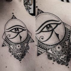 2017 trend Meaningful Tattoos - Fancy Horus eye by Dave Domus Santos. Badass Tattoos, Body Art Tattoos, New Tattoos, Small Tattoos, Script Tattoos, Arabic Tattoos, Dragon Tattoos, Eye Of Ra Tattoo, Get A Tattoo