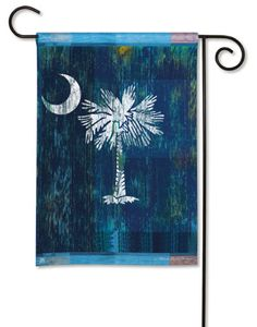 Magnet Works Garden Flag - Palmetto Decorative flag at Garden House Flags