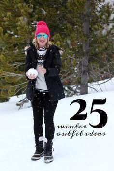 25 Winter Outfit Ideas | #HiSugarplum #WinterStyle #WinterFashion #WhatToWear #OOTD #SnowySeasonStyle