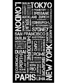 Top 100 Cities - Destination Canvas from Arthouse Central. A Tram Scroll or Destination Travel Canvas of the Worlds Top 100 Cities Place Names, Gifts For Mum, Cairo, Home Art, Cities, The 100, Canvas Prints, Gift Ideas, Room