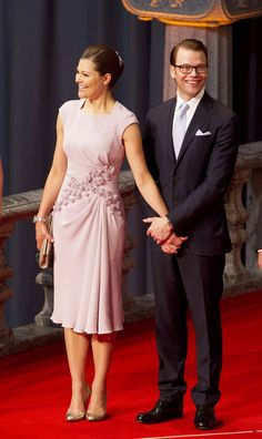 Crown Princess Victoria of Sweden arrives at her wedding reception hosted at Stockholm City Hall ahead of her Saturday wedding to Mr Daniel Westling.6.2010