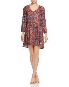 A breezy fit and a patchwork of paisley prints evoke the free-spirited feel of the season in this bohemian dress by Sanctuary. | Rayon | Machine wash | Imported | Fits true to size, order your normal
