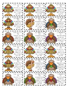 Thanksgiving Mini-Notecards freebie