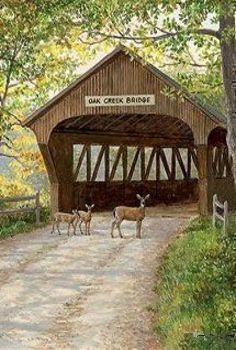 Bridges ©: This bridge was built in the by freed slave and noted bridge builder Horace King At 391 feet, including the approaches, this structure is the oldest and longest wooden covered bridge in Georgia. Smoky Mountain Christmas, Bridge Builder, Old Bridges, Country Scenes, Old Barns, Covered Bridges, Countryside, Paths, Beautiful Places