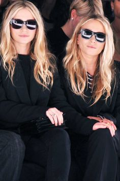 Round Face Oversized rectangular frames always make a stylish statement on women with round faces. Just ask Mary-Kate and Ashley Olsen, who turn to this silhouette time and time again.   Read more: Best Sunglass Styles For Your Face Shape - Best Sunglasses Summer 2013  Follow us: @ElleMagazine on Twitter | ellemagazine on Facebook  Visit us at ELLE.com