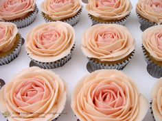 Vintage Rose Cupcakes Simple and delicious our delicate light fluffy sponge base is made using the finest vanilla extracts offering the best taste. Topped with a delicate pink handcrafted buttercream rose and a touch of vanilla flavour.  11/02/2012 15:28