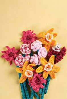 Crochet flower bouquet originally designed for Let's Get Crafting