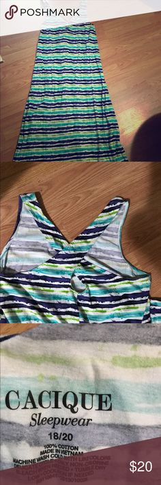 Cacique Summer dress/Sleepwear size 18/20 Used twice. I wore as a dress as too cute for sleepwear to me. Excellent condition. Purchased from Layne Bryant. Size 18/20 Cacique Dresses Maxi