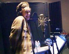 Harry in the studio