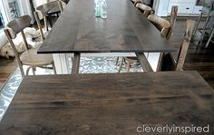 Farmhouse Dining Table with Extensions - Cleverly Inspired Dining Area, Dining Table, Blog Images, Extensions, Home And Garden, Farmhouse, Woodworking, Inspired, Building