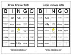 Page description: Looking for some awesome bridal shower games? We have some of the classics just for you! Bridal Shower Bingo, Wedding Shower Games, Bridal Showers, Shower Favors, Shower Gifts, Word Bingo, Gift Cards Money, Money Book, Card Book