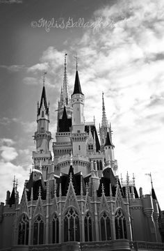 black and white photos of the magic kingdom - Google Search