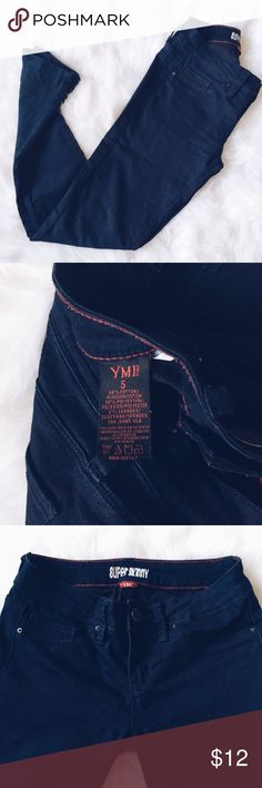YMI | Super Skinny Jeans YMI Jeans:  -5  -dark denim  -stretchy denim  -great condition waist-29  inseam-30  hips-34  rise-8 YMI Jeans Skinny