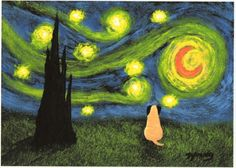 Starry night pug