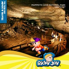 Did you Mammoth Cave National Park in Kentucky is the world's longest known cave system?   design by the logo boutique for www.rickyjoy.com
