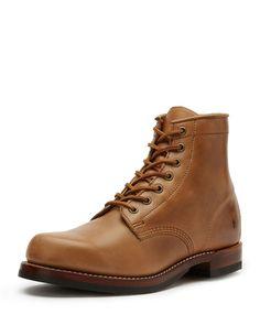 John Addison Leather Lace-Up Boot, Tan