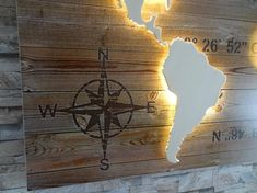 World map of wood LED lighting effect Plywood Board, Plywood Panels, Plank, Living Room Designs, Living Spaces, Picture Hangers, Custom Map, Made Of Wood, Box Design