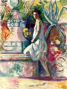 Jeanne at the Fountain, Villa Demiere / Henri Manguin - 1904