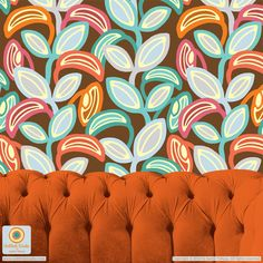 """""""Leaf, Laugh, Love"""" surface pattern design from UnBlink Studio by Jackie Tahara"""