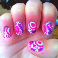 My tie dye nails