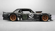 Ken Block has officially unveiled his Gymkhana 7 car, and it is a heathen. With a 410 cubic-inch V8, 845 horses, all-wheel drive, and a six-speed manual, the Hoonicorn RTR is pure tire-slaughtering magic.