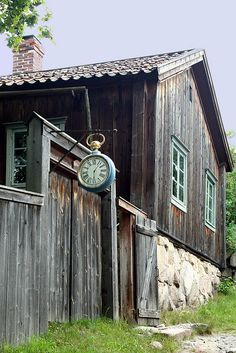 clock on museum village house in Turku, Finland Finland Destinations, Places To Travel, Places To Go, Turku Finland, Finland Travel, Scandinavian Countries, Helsinki, Old Barns, Norway