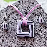 Dichroic glass #jewelry set, 'Sweet Lilac Windows,' by Mexico's Aline Romero....like the style but in a different color!