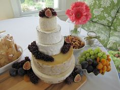 "Cheese ""cake"" for September wedding by Trio in Kitty Hawk."