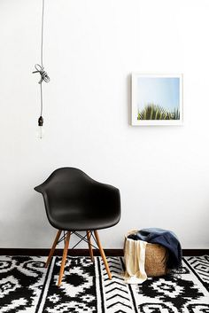 black accent seating