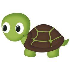 tortuga Child Draw, Cute Animal Clipart, Kids Zoo, Cute Turtles, Turtle Love, Rock Crafts, Drawing For Kids, Stone Art, Nursery Art