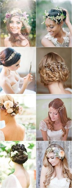 Wedding Hairstyles with Gorgeous Headpieces / http://www.himisspuff.com/bridal-wedding-hairstyles-for-long-hair/17/