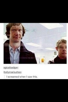 I just breathed really hard and coughed. Mostly because I'm wondering why I have never seen a Sherlock face swap before...