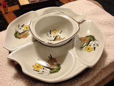 vintage 1950u0027s california pottery swan dish lazy susan photo by retro kitchen and dining room pinterest