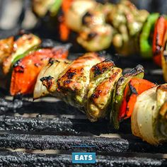 A cilantro and lime marinade gives cubed chicken thighs a bright and fresh flavor, while peppers and onion round out the fajita flavor in these kebabs.