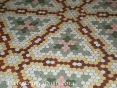 Debby Kratovil Quilts: Hexagon Floor Tiles in 100+ Year Old Hotel