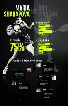 BNP We Are Tennis by yul, via #Behance #Webdesign #Nike