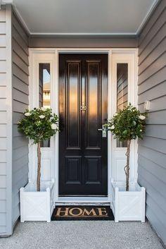 70 Best Modern Farmhouse Front Door Entrance Design Ideas 59 – Home Design Design Entrée, Door Design, House Design, Design Ideas, Design Exterior, Exterior House Colors, Exterior Paint, Exterior Cladding, Wall Cladding
