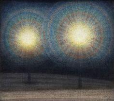 Stefan Johansson (1876-1955), Two lights, 1928
