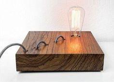 Wood hanging lamp natural satin walnut veneer interior design
