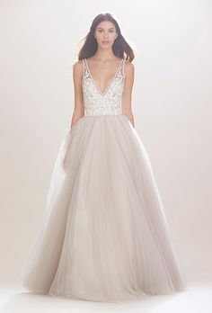 Brides: Carolina Herrera Wedding Dresses - Fall 2016 - Bridal Runway Shows - Brides.com