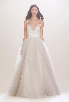 Brides.com: . Wedding dress by Carolina Herrera