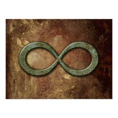 Infinity Grunge Rust Print