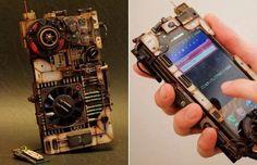 Steampunk phone case.
