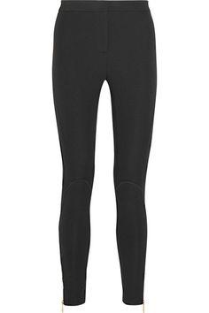 Versace | Legging en jersey stretch à empiècements en résille | NET-A-PORTER.COM