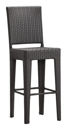 Anguilla Indoor / Outdoor Bar Chair in Espresso Synthetic Weave (Set of 2)